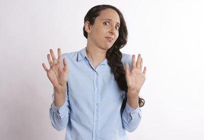 worried shocked woman